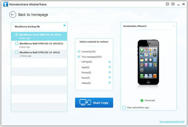 Cell Phone Data Transfer Mac, phone to phone transfer for Mac - Main Screenshot